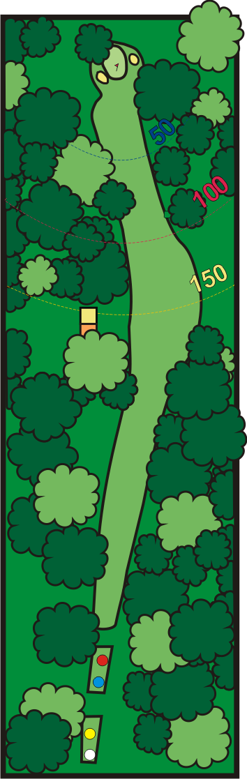 golf tarjeta del campo